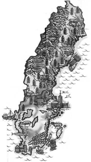 Та самая карта Швеции